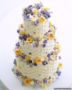 a colorful wedding cake