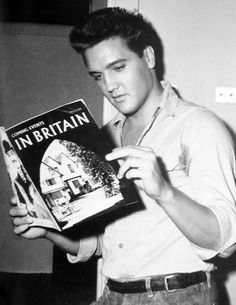 Elvis Presley catches up with what's happening in Britain