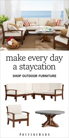 When the first inkling of spring appears, it's time to start thinking about outdoor fun. With everything from outdoor furniture to margarita glasses, Pottery Barn has just what you need to make your summer extraordinary. Shop the outdoor furniture collection today.
