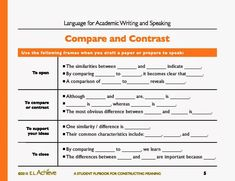 008 Compare and Contrast Activity Pack Words, Activities and