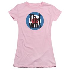 The Who Logo Pink Juniors T-Shirt