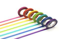 ♥ ♥ ♥ 7 rullaa - Sateenkaari (6mm) masking tape - 10,40 € ♥ ♥ ♥