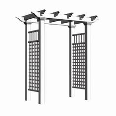 Fairfield 50 In. X 86.5 In. Vinyl Arbor