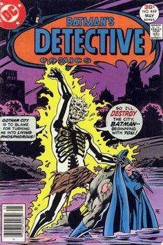This is another issue that was burned (Ha!) into my consciousness early on.  One of my favorite underrated villains: Dr Phosphorous, in Batman's Detective Comics #469 with a cover by the incomparable Jim Aparo