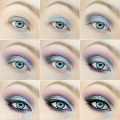 Eye make-up look with blue & pink perfect for the summer night! - Eye make-u . - Eye make-up look with blue & pink perfect for the summer night! – Eye make-up look with blue & pi - Pale Skin Makeup, Blue Eye Makeup, Makeup For Brown Eyes, Blue Eyeliner, Silver Makeup, Eyeliner Makeup, Makeup Light, Makeup Contouring, Makeup Brushes