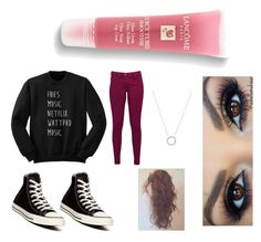 """""""Untitled #343"""" by siriuslyasamarauder on Polyvore featuring Great Plains, Converse, Michael Kors and Lancôme"""