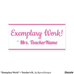 """ + Teacher's Name Rubber Stamp created by AponxDesigns. Teacher Name, School Teacher, Student Work, Motivational, Stamps, Messages, Education, Inspiration, Seals"