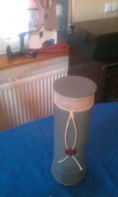 Pojemnik na butelkę wykonana z rury kanalizacyjnej 2