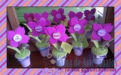 Flores de EVA no vaso