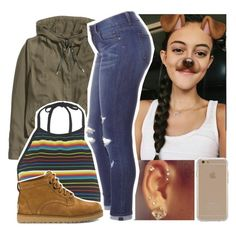 """cute"" by aribearie ❤ liked on Polyvore featuring H&M, Motel, UGG Australia and Agent 18"
