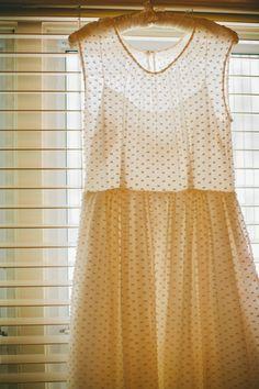 swiss dot wedding dress // photo by Lang Photographers // view more: http://ruffledblog.com/sedona-elopement-by-lang-photographers - Hang Me Up...