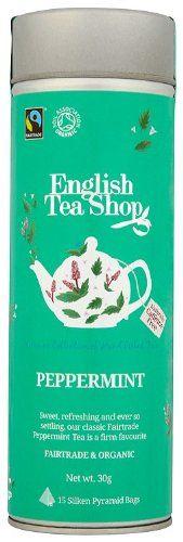 English Tea Shop Peppermint Fairtrade & Organic 15 Pyramid Tea Bags (Pack of 2): Amazon.co.uk: Grocery
