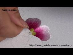 Start to learn embroidery with these 10 RIBBON EMBROIDERY FLOWERS: This Ribbon embroidery tutorial is suited for both Beginners and Experts. Ribbon embroidery is a 3 dimensional embroidery in which you stitch beautiful designs with ribbons on the needle i Hand Embroidery Videos, Embroidery Stitches Tutorial, Flower Embroidery Designs, Learn Embroidery, Embroidery For Beginners, Hand Embroidery Patterns, Embroidery Techniques, Embroidery Art, Lace Patterns