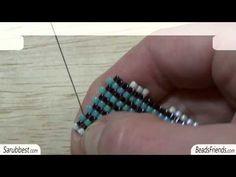 Peyote Stitch Tutorial: how to increase a flat Peyote Stitch beadwork