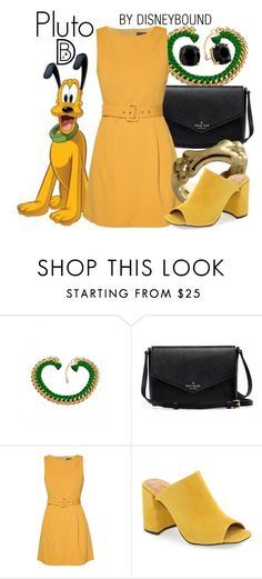 """Pluto"" by leslieakay ❤ liked on Polyvore featuring ZALORA, Topshop, Kate Spade, disney, disneybound and disneycharacter"