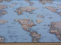 Lloyd bartons paris map fabric for timeless treasures fabric import export wholesale retail free phone 44 0 330 world map fabricfree phonesfabric shopblue fabricsewing gumiabroncs Gallery