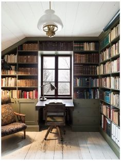 Home Library Rooms, Home Library Design, Home Office Design, Home Design, Interior Design, Small Home Libraries, Design Ideas, Cozy Home Library, Library Study Room