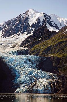 College Fjord Glacier, via Flickr; Alaska; photo by David Schroeder