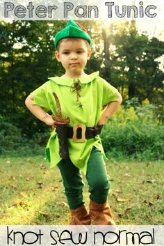 31 Days of Halloween at Get Your Crap Together. How to make a woven Peter Pan Tunic with facings by Knot Sew Normal