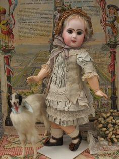Pretty French Bebe Jumeau with Amber Brown Eyes (item #1319575, detailed views)