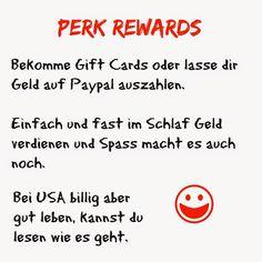 USA billig aber gut leben: Perk Rewards - Gift Cards ohne viel Arbeit