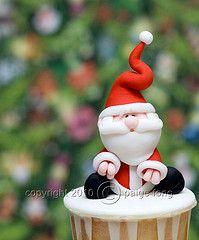 Santa, CUPCAKE.  Topper would make a cut ornament.