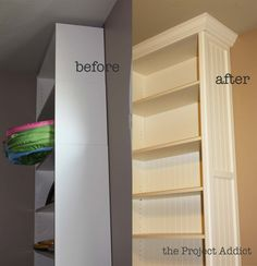 "transforming ikea ""billy"" bookcases"