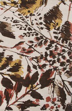 En Casa by Luli Sanchez Tufted LST02 Wild Flowers Antique White / Deep Blue Rug