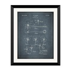 Have to have it. 1927 Golf Tee Design Framed Wall Art $160.99