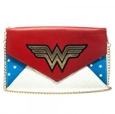 """AmazonSmile : Wonder Woman Envelope Wallet with 48"""" Chain : Sports & Outdoors"""
