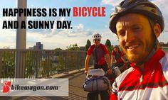 Bikes = Happy http://www.bikewagon.com/