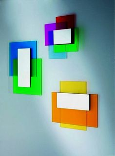 Colored mirror - Ettore Sottsass