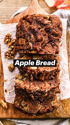 Best Apple Recipes, Fall Recipes, Favorite Recipes, Apple Desserts, Just Desserts, Dessert Recipes, Bread Toast, Apple Bread, Food Shows