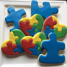 Cake Cookies, Sugar Cookies, Diy Party, Party Ideas, Gift Ideas, World Autism Awareness Day, Gotcha Day, Cookie Decorating, Decorating Ideas