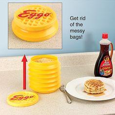 Leggo my Eggo! Waffle pop up storage container #eggos #breakfast