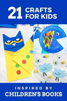 21 super fun children's book themed crafts for kids! Help your kids make crafts inspired by books they love. The best kids books inspire creativity! Kids Activities At Home, Creative Activities, Creative Kids, Book Activities, Crafts For Kids, Best Children Books, Toddler Books, Childrens Books, Classroom Crafts
