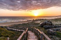 Praia do Vilar in Galizien, Spanien