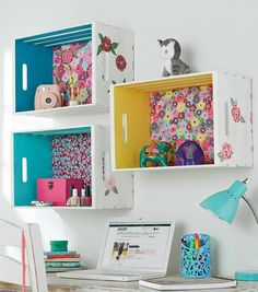 For above the desk. Cute organization