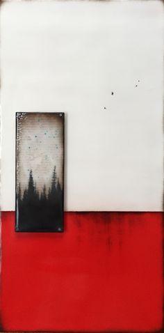 """Red Earth""series 10x20 Encaustic"