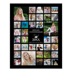 Shop Graduation Photo Collage CLASS OF Black Party Poster created by MakeItAboutYou. Personalize it with photos & text or purchase as is! Graduation Photos, Graduation Ideas, Graduation Picture Boards, Graduation Photo Displays, Graduation Celebration, Graduation Banner, Graduation Parties, Graduation Decorations, College Graduation