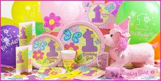 Hugs & Stitches Girl's 1st Birthday Party Supplies - Party City