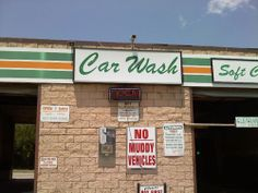 Don't worry we definitely accept muddy vehicles at the Race Track Car Wash. Come on down and de-mud! Funny Signs, Funny Jokes, Retirement Jokes, Town Names, Clean Jokes, Parking Signs, Seriously Funny, Car Humor, Car Wash