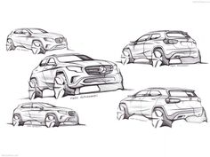 Mercedes-Benz GLA Class 2015. Mercedes World, Mercedes Benz, Car Drawings, Drawing Sketches, Sketching, Drawing Ideas, Perspective Sketch, Car Design Sketch, Hand Sketch
