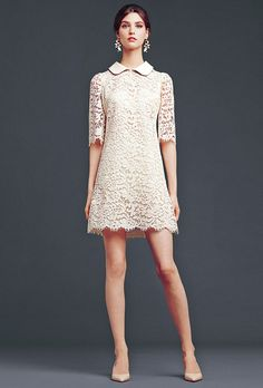dolce and gabbana short lace dress