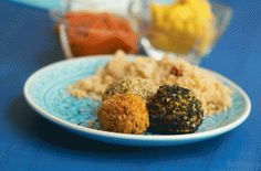A combination of carrot, coriander and moroccan spices makes this recipe for falafel the perfect vegetarian street food or appetiser. Carrot And Coriander, Fresh Coriander, Lunch Recipes, Vegetarian Recipes, Moroccan Spices, Falafel Recipe, Roasted Red Peppers, Fresh Vegetables, Street Food