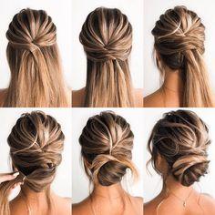 Updo Hairstyles Tutorials, Wedding Hairstyles Tutorial, Wedding Guest Hairstyles, Up Hairstyles, Bridal Hair Tutorial, Bridal Hairstyles, Summer Hairstyles, Hairstyle Ideas, Easy Homecoming Hairstyles