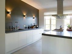 The Best 2019 Interior Design Trends - DIY Decoration Ideas Open Plan Kitchen, New Kitchen, Kitchen Dining, Kitchen Cabinets, Industrial Kitchen Design, Interior Design Kitchen, Luz Led, Wooden Kitchen, Cuisines Design