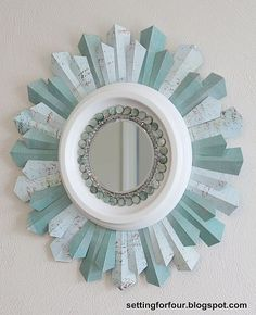 """DIY:: """"The Updated Sunburst Mirror""""// This is GREAT!!!!! I have to make one soon!!!"""