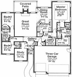 Manageable Size - 48347FM | European, 1st Floor Master Suite, Butler Walk-in Pantry, Den-Office-Library-Study, PDF, Split Bedrooms | Architectural Designs