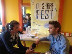 Prise de vue lors du OuiShare Fest - Interview d'Antonin Léonard (2 mai 2013)